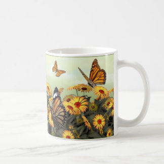 Butterfly Daisy Classic White Coffee Mug