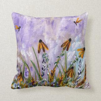 Butterfly Daisy Throw Pillow