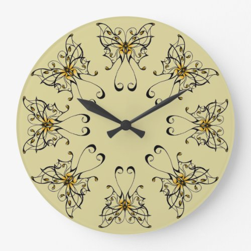 Butterfly Dance 4 Large Clock