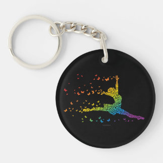 Butterfly Dancer Acrylic Key Chains