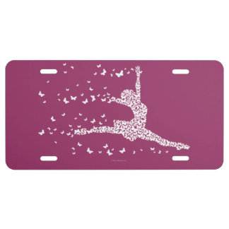 Butterfly Dancer License Plate