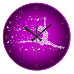 Butterfly Dancer Round Clocks
