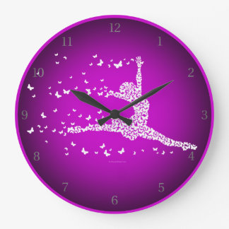 Butterfly Dancer Round Clocks