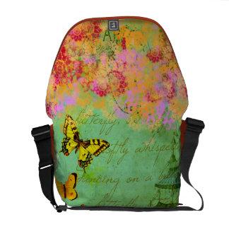 Butterfly Dancing on a Breeze Custom Messenger Bag