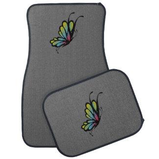 Butterfly  Dark Gray Car Floor Mats Floor Mat