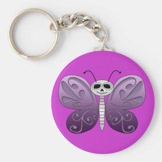 Butterfly Day of the Dead Design Keychains