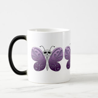 Butterfly Day of the Dead Design Magic Mug