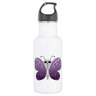 Butterfly Day of the Dead Design 18oz Water Bottle