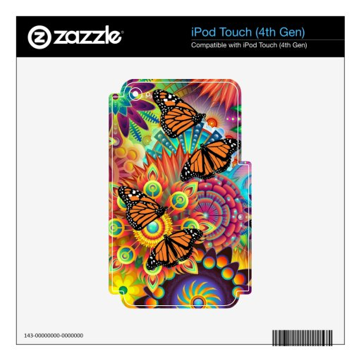 Butterfly Decal For iPod Touch 4G