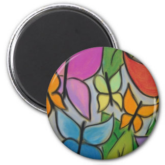 Butterfly decorated items, bags, hats, cards 2 inch round magnet