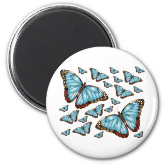 Butterfly Delight 2 Inch Round Magnet