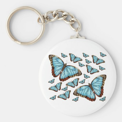 Butterfly Delight Basic Round Button Keychain
