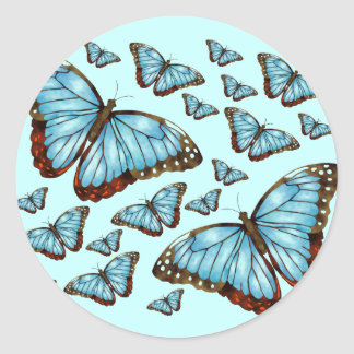 Butterfly Delight Classic Round Sticker