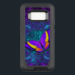 "Butterfly Delight OtterBox Defender Samsung Galaxy S8 Case<br><div class=""desc"">Colorful purple,  pink,  orange,  yellow and red butterfly with swirls artwork over a delicate and intricate swirly purple and teal mandala. your Samsung Galaxy S8 protective Otterbox case by choosing your favorite background color. See the dropdown menus for other styles and models.</div>"