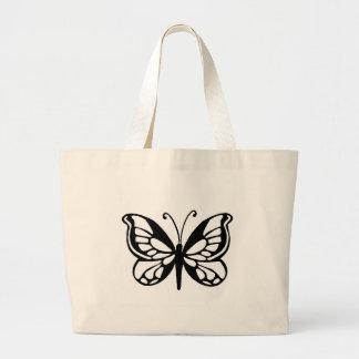 butterfly design jumbo tote bag