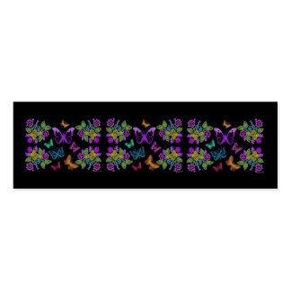 Butterfly Design Bookmark Double-Sided Mini Business Cards (Pack Of 20)