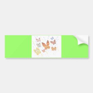 Butterfly design bumper sticker