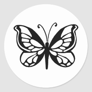 butterfly design classic round sticker