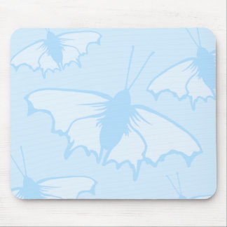 Butterfly Design in Pastel Blue. Mousepads
