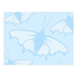 Butterfly Design in Pastel Blue. Postcard