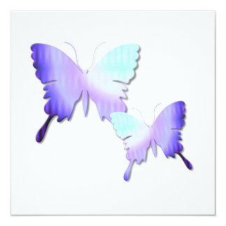 """Butterfly Design Invitations 5.25"""" Square Invitation Card"""