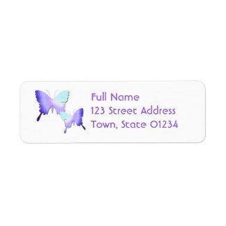 Butterfly Design Mailing Label Return Address Label