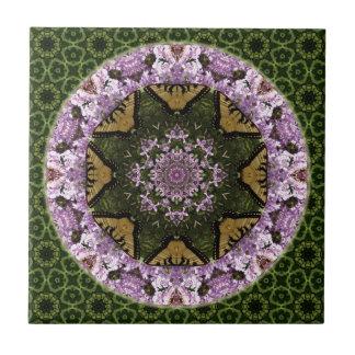 Butterfly Design Mandala Tile