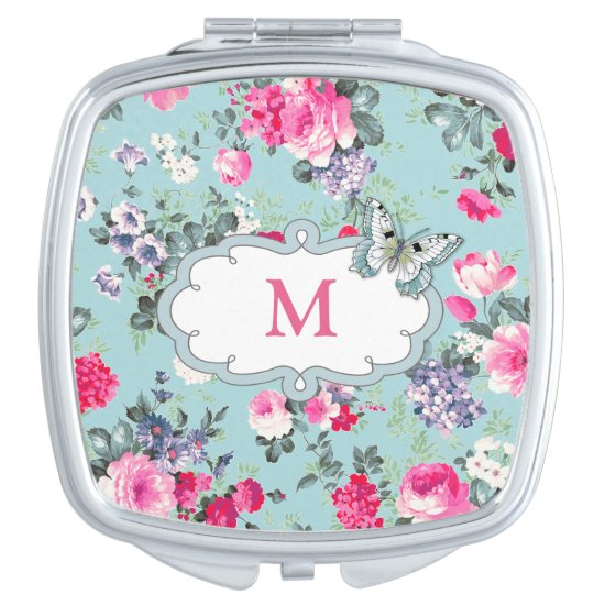 Butterfly Design Mother's Day Gift Compact Mirror