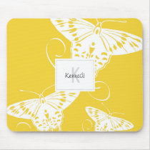 Butterfly Design On Mousepad