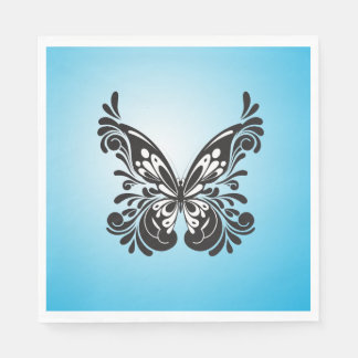 BUTTERFLY DESIGN PAPER NAPKIN