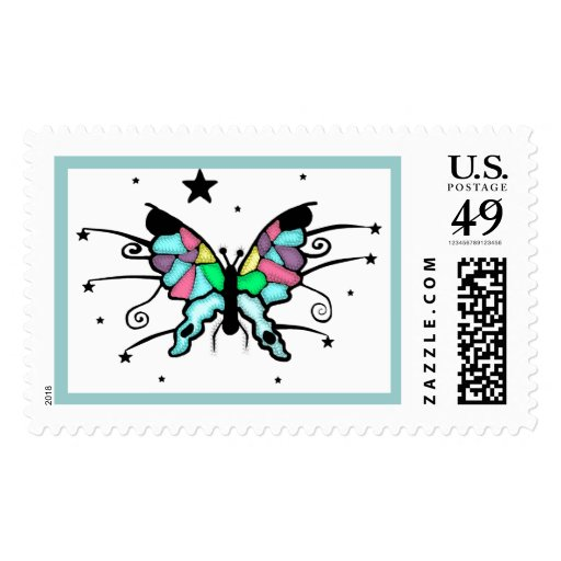 Butterfly Design Postage Stamp