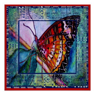 Butterfly Design Poster