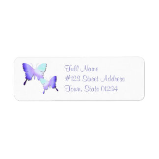 Butterfly Design Return Address Mailing Label