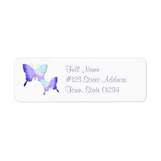 Butterfly Design Return Address Mailing Label