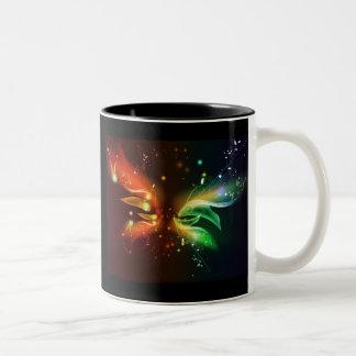 butterfly design Two-Tone coffee mug
