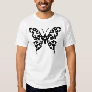 Butterfly Designer Ornamental Art Tee Shirt