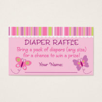 Butterfly Diaper Raffle Tickets