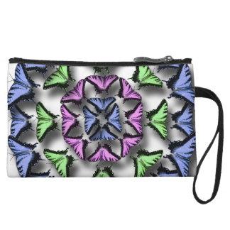 Butterfly Digital Art Wristlet Wallet