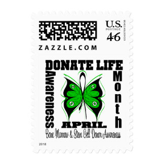 Butterfly Donate Life Month - Bone Marrow Donor Stamps
