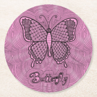 Butterfly Doodle Coaster