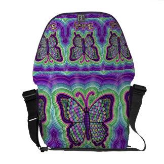 Butterfly Doodle Messenger Bag