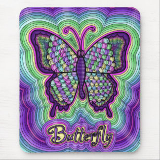 Butterfly Doodle Mousepad