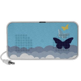 Butterfly Doodle Speaker doodle