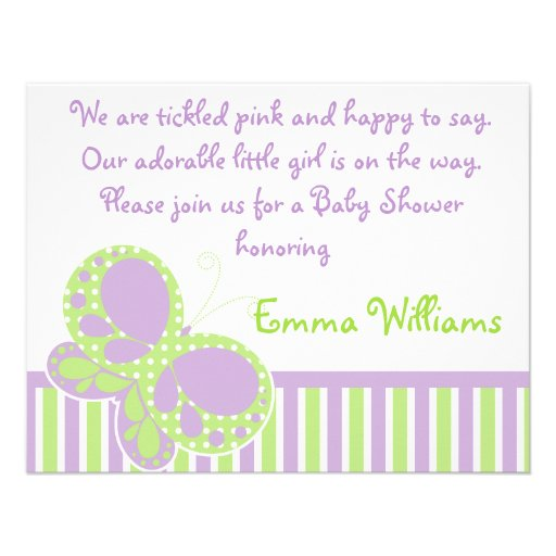 baby shower invitation purple green x 5 5 invitation card
