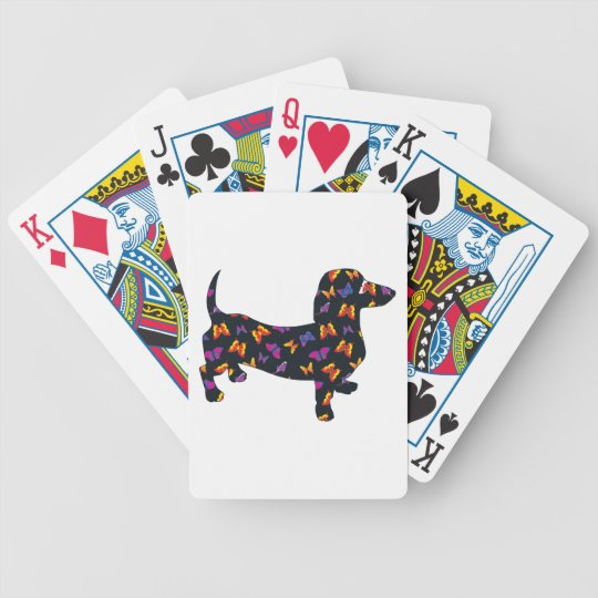Butterfly Doxie Dachshund Bicycle Playing Cards