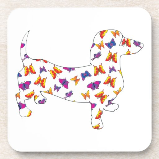 Butterfly Doxie Dachshund Coaster
