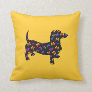 Butterfly Doxie Dachshund Throw Pillow