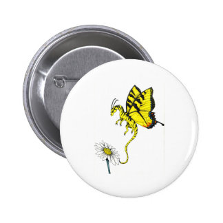 Butterfly Dragon Pinback Buttons