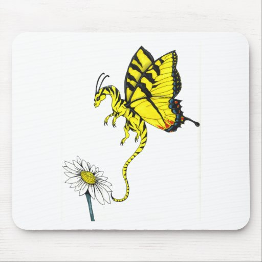 Butterfly Dragon Mouse Pad