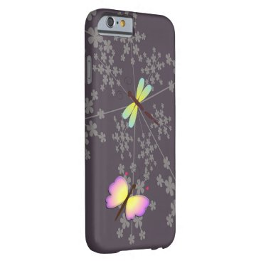 yumeus Butterfly, dragonfly and flower digital art design barely there iPhone 6 case